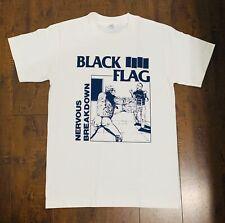 Black Flag T-Shirt Nervous Breakdown Rock band T Shirt Tee Metal pop unisex Blue
