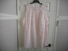 CROFT & BARROW WOMEN'S SLEEVELESS NIGHTGOWN SIZE 4X PINK & WHITE FLORAL NWT