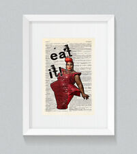 RuPaul Latrice Royale Eat It ! Vintage Dictionary Book Print Wall Art