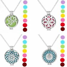 7Pads Locket Fragrance Aromatherapy Essential Oil Diffuser Pendant Necklace New