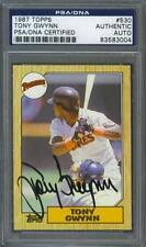 Tony Gwynn signed San Diego Padres 1987 Topps baseball card Psa
