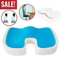 USA Gel Seat Cushion Memory Foam Coccyx Car Plane Office Chair Pillow Orthopedic