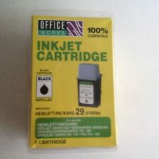 Office Works HP 29 Black Ink Cartridge  Factory Sealed  Expired July 2007
