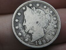 1893 Liberty Head V Nickel- VG/Fine Details, Full Rims