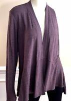 Fresh Produce Sweater Size XL 14 Cardigan Brown XXL Womens LS