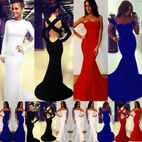 Sexy Ladies Celeb Prom Ball Cocktail Maxi Party Dress Womens Formal Evening Gown