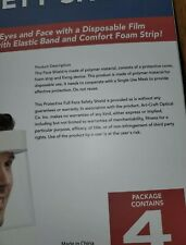 Protective Full Face Safety Shield 4 Pack New