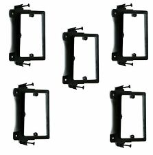 5x 1 Gang Low Voltage Wall Plate Bracket Mount Screw-in New Work Construction