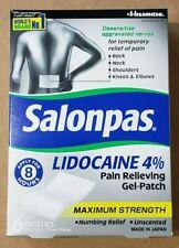 Salonpas 4% Lidocaine Pain Relieving Gel Patch 6 Per Box Exp. 7/2021
