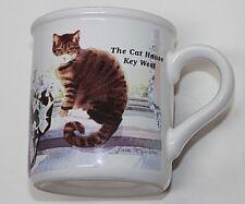 "VINTAGE MUG ""THE CAT HOUSE"" * KEY WEST * TABBY CAT IN THE WINDOW - U.S.A."