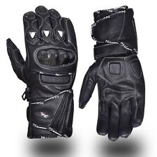 éte gants cuir moto course PHALANGES CARBONE protection