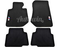 BMW 3 Series E36 Sedan Black Floor Mats With /// M Emblem Clip LHD