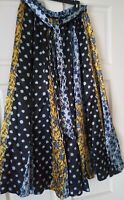 Women's Floral Maxi Skirt TRUTH NYC Casual Flare Spring Summer Print SIZE L/M