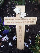 Personalised Pet Memorial Remembrance Cross Funeral