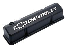 Proform 141-921 Slant Edge Valve Covers - Small Block Chevy Black Cast Aluminum