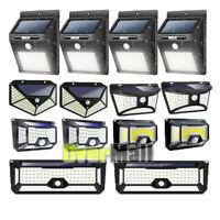 4 x LED Solar Power PIR Motion Sensor Wall Light Outdoor Garden Lamp Waterproof