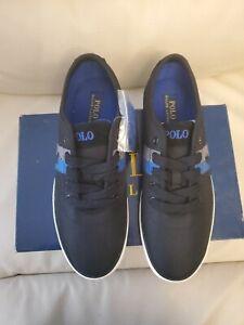 Polo Ralph Lauren Men's Harford-SK-VLC -NVY Casual Shoes Black 9 D New