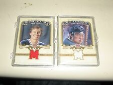 2012 GOODWIN CHAMPIONS UPPERDECK WAYNE GRETZKY AND MARIO LEMIEUX JERSEY PIECES