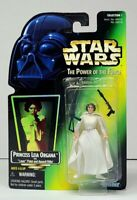 "Star Wars POTF PRINCESS LEIA ORGANA 3.75"" Action Figure 1997 Hologram Card NEW"