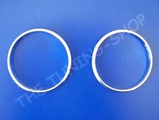 For VW Caddy 10-15 Chrome Rings Surrounds for Automatic A/C Heater Controls x2