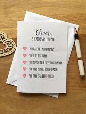 Personalised Birthday Card Anniversary Boyfriend Girl Reasons I Love You