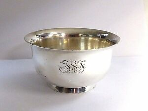 Antique Tiffany & Co Sterling Silver Paul Revere Bowl Dish Makers 19054 Size 4""