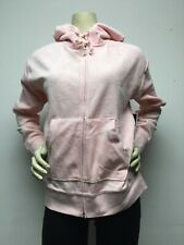 Juicy Couture Womens Robertson Pink Velour Athleisure Track Jacket XS .*