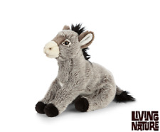 LIVING Nature Donkey-AN465 realistico Morbido Peluche Carino Stuffed Plush TEDDY TOY