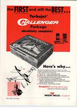 1963 PAPER AD Wen Mac Gas Gasoline Turbojet Model Airplane Barbie Doll Bedroom