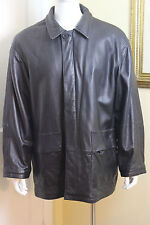 Kenneth Cole Reaction Jacket Leather with Zip out Lining Black Men's XL
