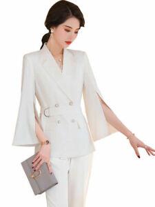 2pc Set Women Temperament Blazer +trousers Suit  Business Jacket Fashion Suit