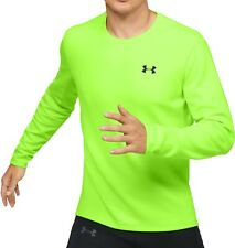 Under Armour Qualifier ColdGear Long Sleeve Mens Running Top - Yellow