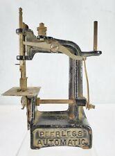 Vintage Cast Iron Child's Sewing Machine Peerless Automatic 1897