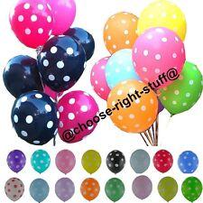 10-254X30.5cm Lunares Globos & Liso Globos Látex para Cumpleaños Día de la Madre