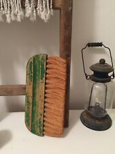 Vintage Antique Utility Dust Pan Brush Reclaimed Rustic Wooden