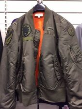 Nuevo denim and supply ralph lauren Bomber Jacket Verde Vintage Talla L Rrp £ 165