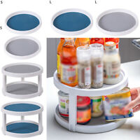 Rotating Round Spice Storage Rack Tray Turntable Home Kitchen Jar Holder Tool