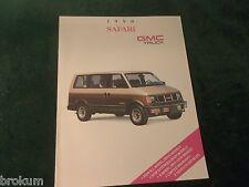 MINT 1990 GMC TRUCK SAFARI VAN 12 PAGE SALES BROCHURE NEW ORIGINAL  (BOX 368)