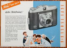 Kamera Prospekt AGFA ISOLA 6x6 Rollfilmkamera + Zubehör * Broschüre (X2935