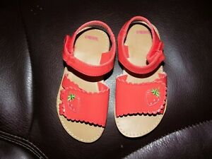Gymboree Pink Strawberry Sandals Size 8 Girl's Toddlers EUC
