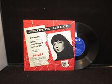 Juliette Greco  - Greco Chante on Philips P 76000 R DUTCH IMPORT