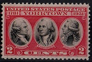 US 1931 Scott# 703 Rochambeau, Washington, de Gras 2 Cents STAMP MNH OG