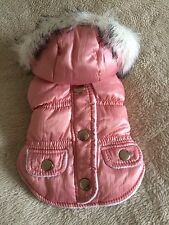 Luxury Chihuahua Jacket Coat Pink Warm Dog Clothes Tiny XXS 28cm