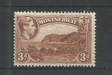 MONTSERRAT 1938 GEORGE 6TH 3d BROWN SG,106 M/M LOT 6279A