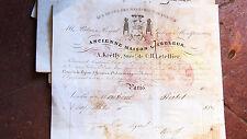 1855  facture pour 1 croix d'officier de la legion d'honneur au comte Reiset