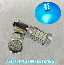 Front Turn Signal Light BAU15S 7507 PY21W 92 High Power LED Ice Blue Bulb W1 JAE