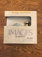 """Images by Baldwin 3555-263 Chrome & Brass, """"Avalon"""" Robe Hook"""