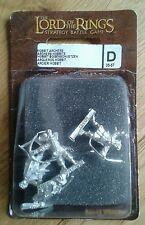 LOTR Warhammer Hobbit Archers Metal Slotta Miniatures Boxed