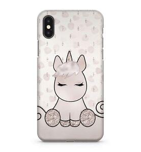 White Silver Cute Sleeping Unicorn Cloud Pattern Girls Kids Phone Case Cover