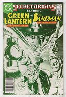 Secret Origins #7 (Oct 1986, DC) Newsstand [Green Lantern, Sandman] Bolland X